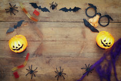 Halloween holiday concept top view Stock Images