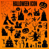 Halloween holiday constructor. Graphic template. Flat icons Stock Photos