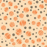 Halloween holiday design with orange and black grunge abstract round elements. Royalty Free Stock Photo