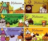 Halloween Holiday Gift Card Set Royalty Free Stock Photos