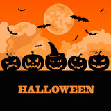 Halloween holiday graphic template. Flat icons Royalty Free Stock Images