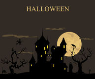 Halloween holiday graphic template. Flat icons Stock Images