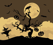 Halloween holiday graphic template. Flat icons Royalty Free Stock Photography