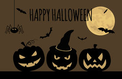 Halloween holiday graphic template. Flat icons Royalty Free Stock Photos