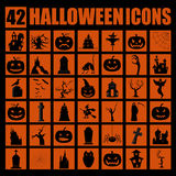 Halloween holiday graphic template. Flat icons Stock Image