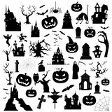Halloween holiday graphic template. Flat icons Stock Photo