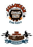 Halloween holiday invitations Royalty Free Stock Images