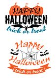 Halloween holiday party banners Royalty Free Stock Images