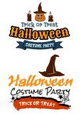 Halloween holiday party banners Stock Photo