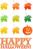 Halloween holiday pumpkin card illustration Stock Photo