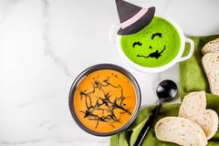 Halloween holiday soup royalty free stock image
