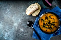 Halloween holiday soup stock image