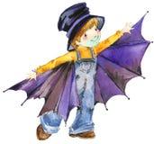 Halloween holiday vampire boy Stock Photos