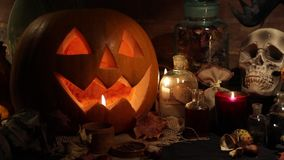 Halloween holidays art design, celebration stock video footage