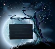 Halloween-Holzschild-Hintergrund Stockfoto