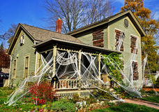 Halloween Home. A home decorated for Halloween royalty free stock photo