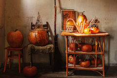 Halloween home decorations Royalty Free Stock Photos