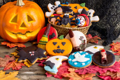 Halloween homemade cookies Stock Photos
