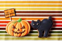 Halloween homemade gingerbread cookies Stock Photo