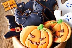 Halloween homemade gingerbread cookies Stock Image