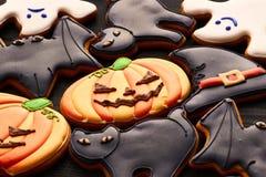 Halloween homemade gingerbread cookies Royalty Free Stock Photo