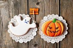 Halloween homemade gingerbread cookies Stock Photos