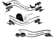 Halloween horizontal banners Stock Image
