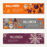 Halloween Horizontal Banners or Flyers Stock Photography