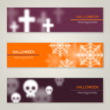 Halloween Horizontal Banners or Flyers royalty free illustration