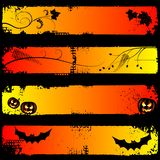 Halloween horizontal banners, set Stock Photos