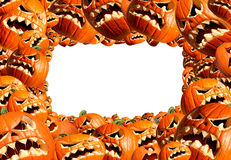 Halloween Horizontal Frame Stock Photo