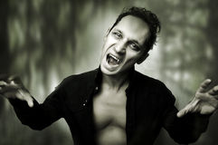 Halloween horror concept. male vampire stock photography