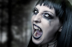 Halloween horror concept. Night woman vampire Stock Photography