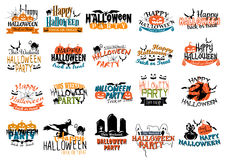 Halloween horror and eerie banners Stock Image