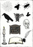 Halloween horror elements Royalty Free Stock Photos