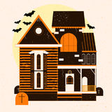 A Halloween horror house.Vector illustration.  Royalty Free Stock Photography