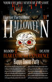 Halloween Horror Party Flyer Royalty Free Stock Photos