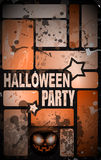 Halloween Horror Party flyer Royalty Free Stock Photography