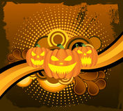 Halloween horror pumpkin background Stock Photo