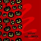 Halloween horror pumpkins card vertical design Stock Photo