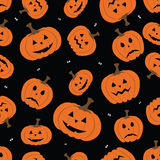 Halloween horror symbols seamless pattern background. Vector file layered for easy manipulation and custom coloring Royalty Free Stock Photography