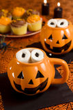 Halloween hot chocolate Stock Image
