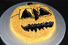 Halloween hot chocolate cake Royalty Free Stock Photos