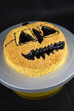 Halloween hot chocolate cake Royalty Free Stock Photography