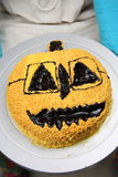 Halloween hot chocolate cake Stock Images