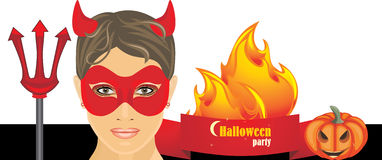 Halloween hot party. Banner Royalty Free Stock Image