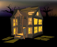 The halloween house Stock Images