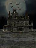 Halloween house. 3d render of Halloween house Stock Photos
