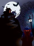 Halloween house. Perfect illustration for Halloween holiday Royalty Free Stock Photos