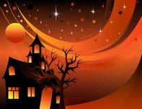 Halloween House Background Stock Photo